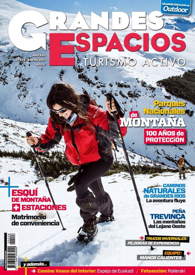 Portada de la revista Grandes Espacios nº 228. Enero 2017