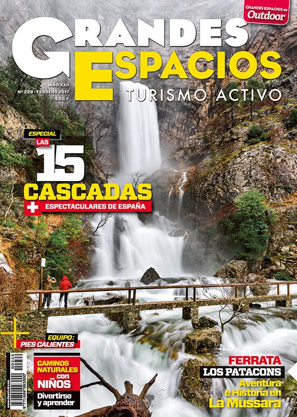Portada de la revista Grandes Espacios nº 228. Especial Cascadas