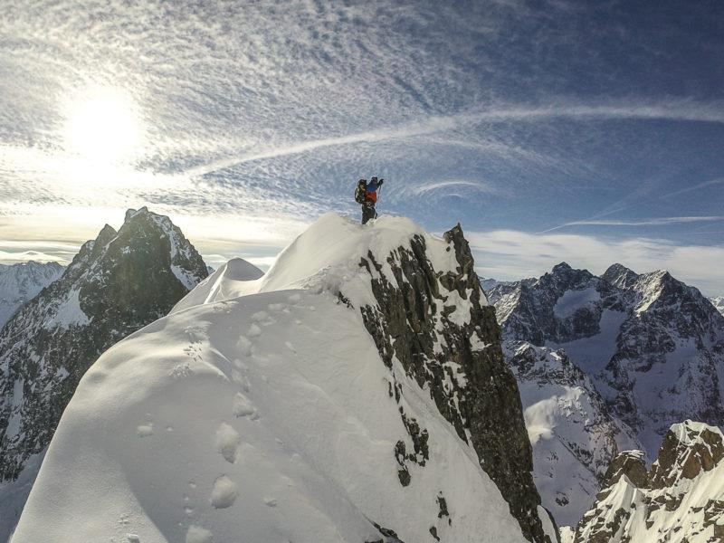 Matthias Auer en una de las cimas del Kaunergrat