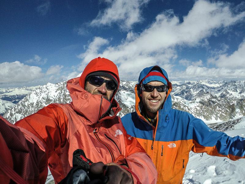 Hansjörg Auer y Matthias Auer, en la cima del Rostizkogel