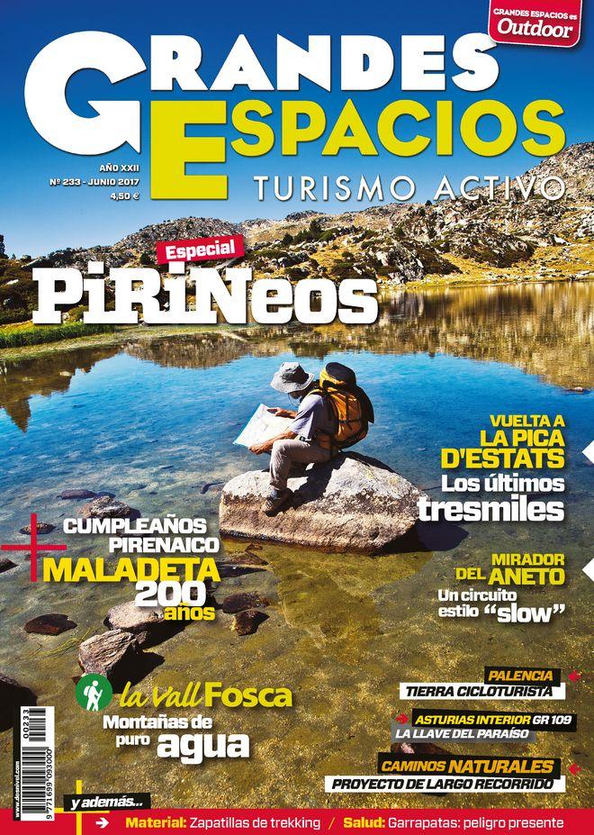 Portada de la revista Grandes Espacios nº 233. Especial Pirineos.