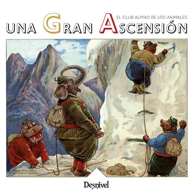 Portada del libro infantil: Una gran ascensión. El Club Alpino de los animales