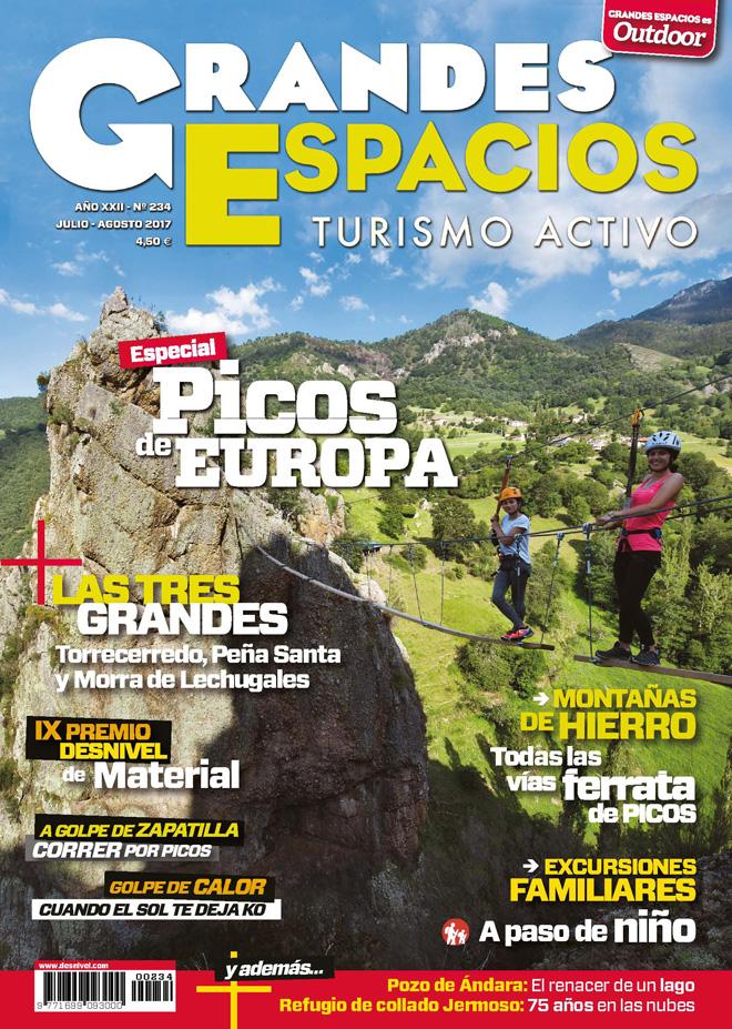 Portada de la revista Grandes Espacios nº 234. Especial Picos de Europa.