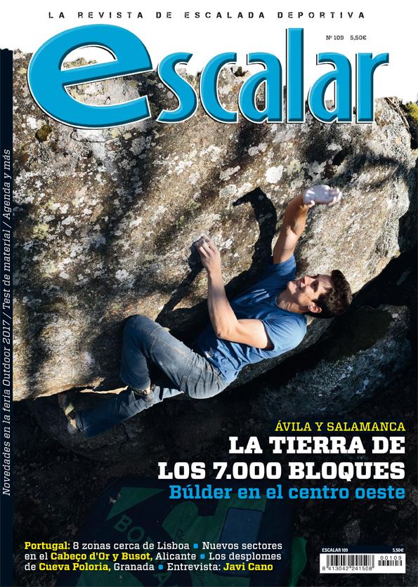 Portada de la revista Escalar nº 109. Especial bloque en Ávila y Salamanca.