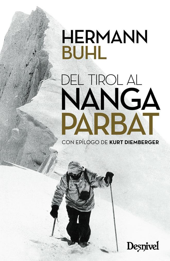 Portada del libro 'Del Tirol al Nanga Parbat', por Hermann Buhl.