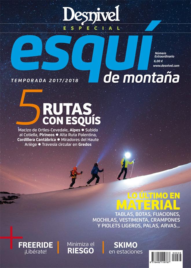 Portada de la revista Denivel nº 377 Especial Esquí de Montaña, temporada 2017-2018.