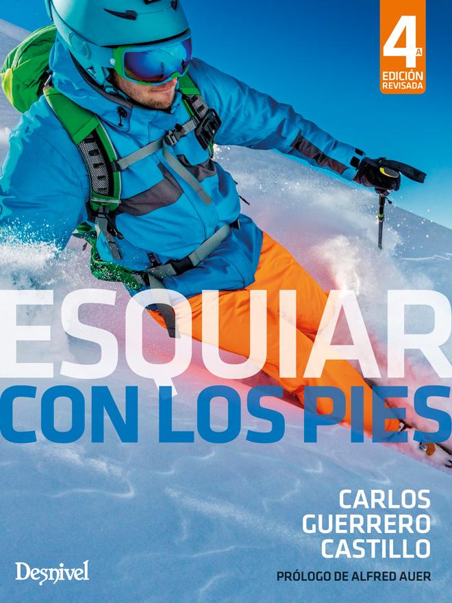 Portada del libro: Esquiar con los pies, por Carlos Guerrero Castillo
