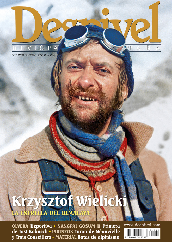 Portada de la revista Desnivel nº379. Krzysztof Wielicki