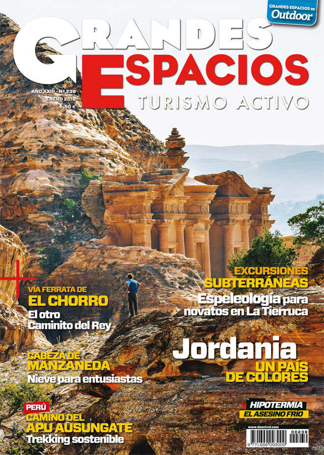 Portada de la revista Grandes Espacios nº239. Excursiones subterráneas.