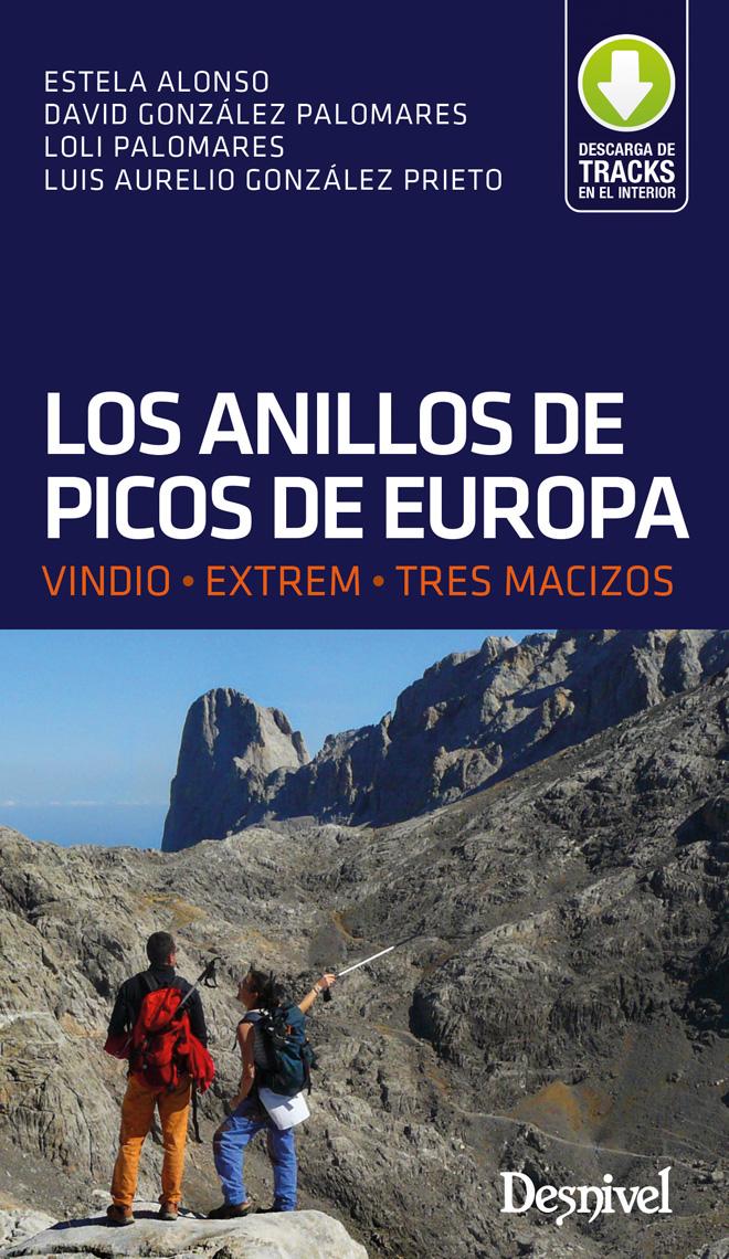 Portada del la guía: Los Anillos de Picos de Europa. VINDIO • EXTREM • TRES MACIZOS.