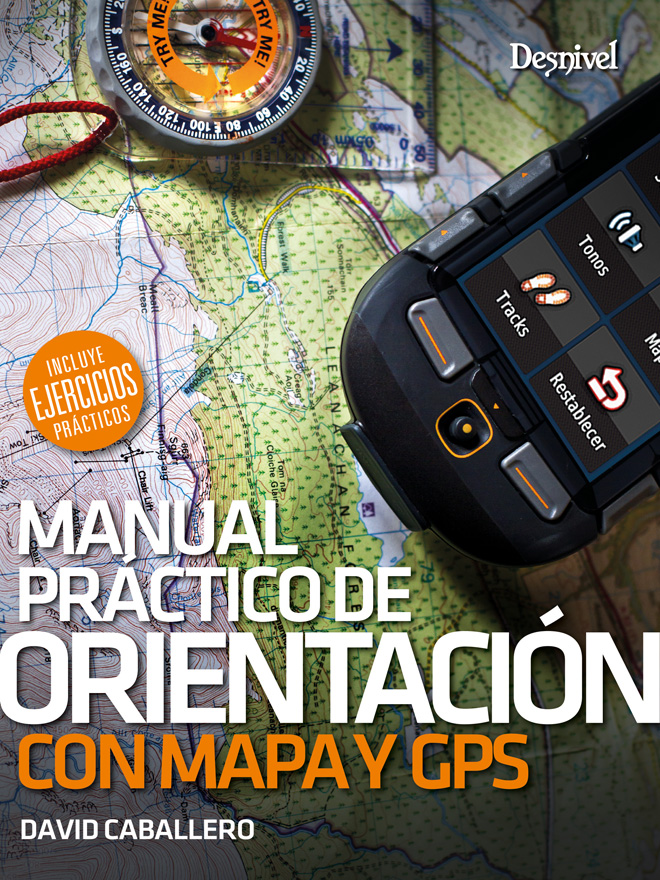 Portada del Manual práctico de orientación con con mapa y GPS, por David Caballero.